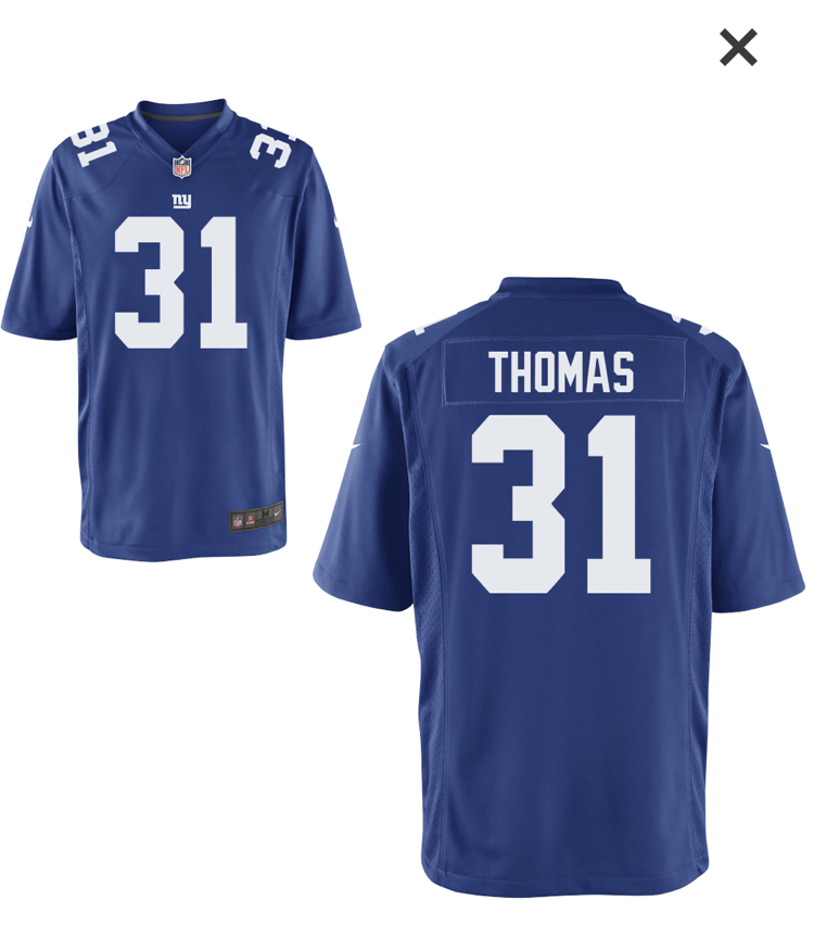 Nike Giants 31 Michael Thomas Royal Game Jersey