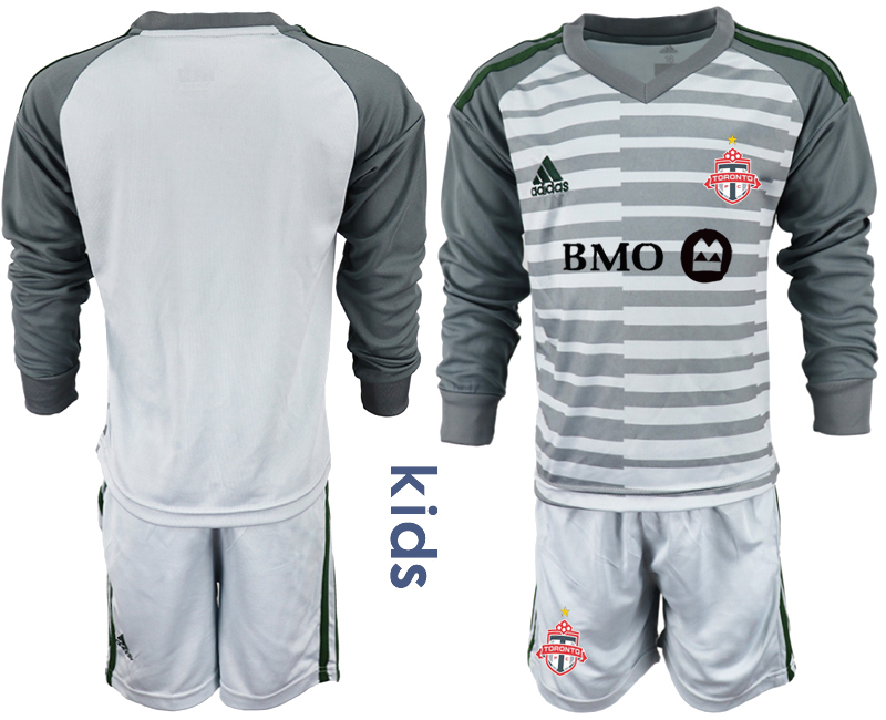 2018-19 Toronto FC Gray Youth Long Sleeve Soccer Jersey