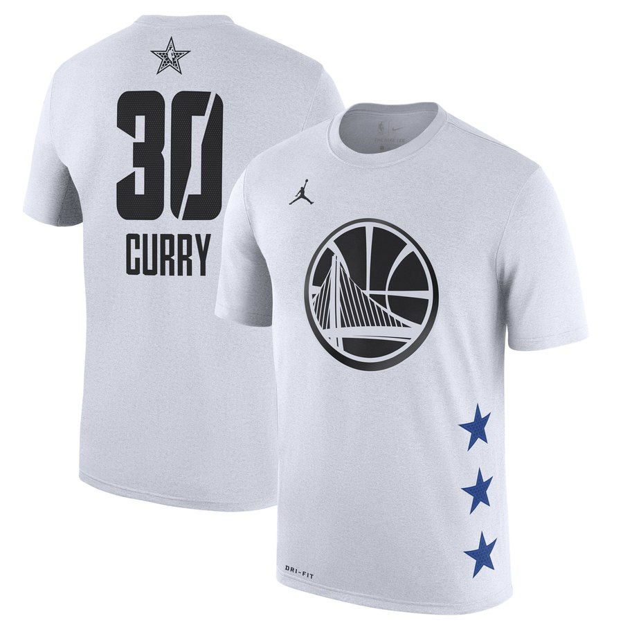 Warriors 30 Stephen Curry White 2019 NBA All-Star Game Men's T-Shirt
