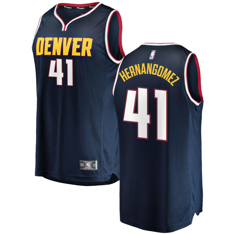 Nuggets 41 Juan Hernangomez Navy Nike Swingman Jersey