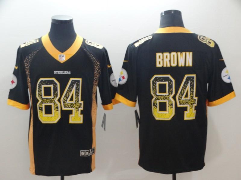 6ec5f03e35c Nike Steelers 84 Antonio Brown Black Drift Fashion Limited Jersey