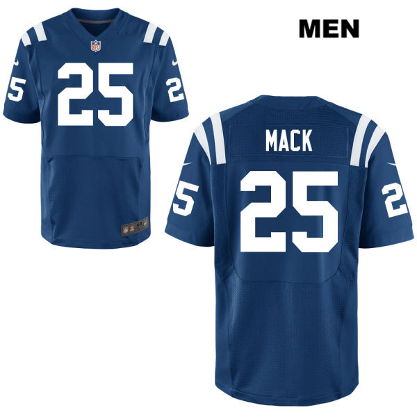 Nike Colts 25 Marlon Mack Blue Elite Jersey