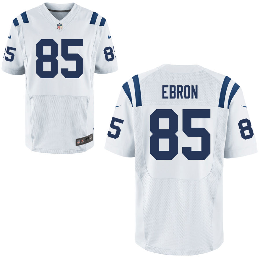 Nike Colts 85 Eric Ebron White Elite Jersey