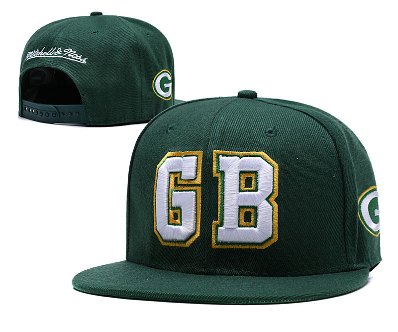 Packers Green Mitchell & Ness Adjustable Hat LH