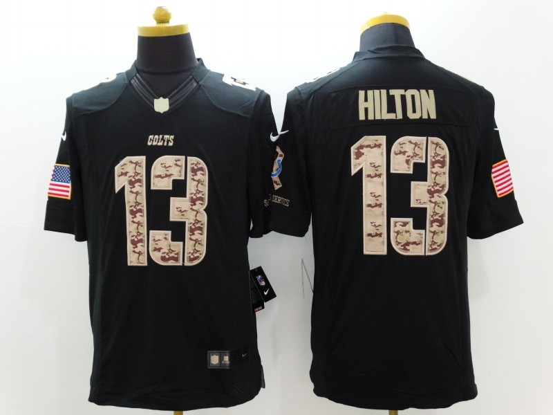 Nike Colts 13 T.Y. Hilton Black Salute To Service Limited Jersey