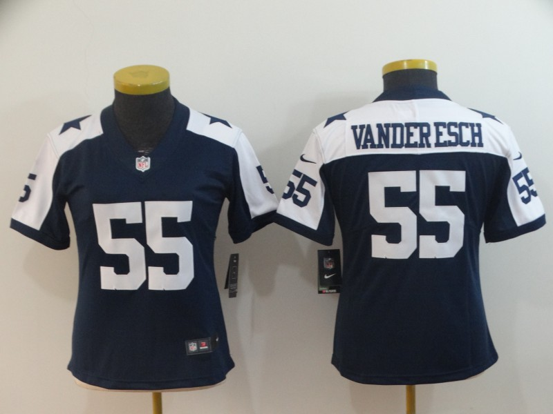 Nike Cowboys 55 Leighton Vander Esch Navy Alternate Women Vapor Untouchable Limited Jersey