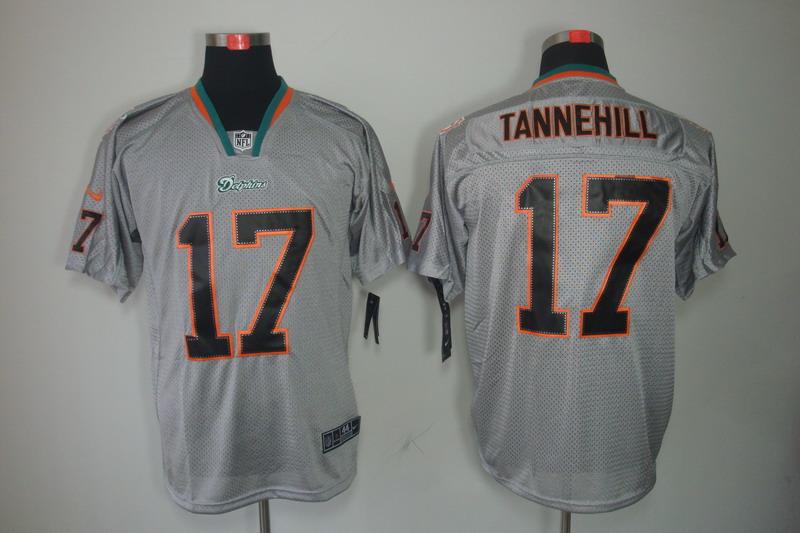 Nike Dolphins 17 Ryan Tannehill Gray Lights Out Limited Jersey