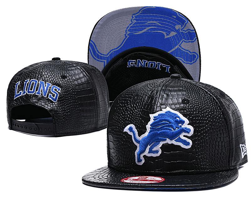 Lions Fresh Logo Black Adjustable Hat GS