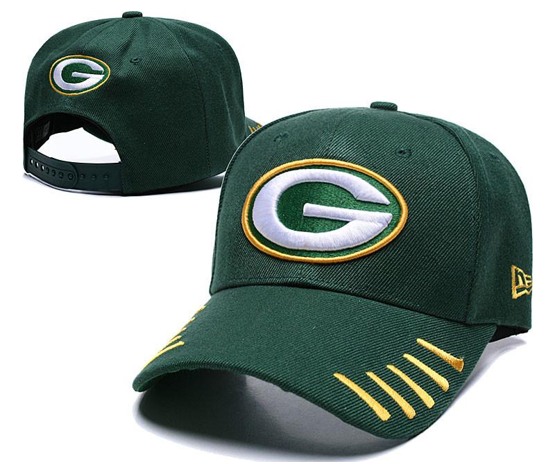 Packers Team Logo Green Peaked Adjustable Hat LH