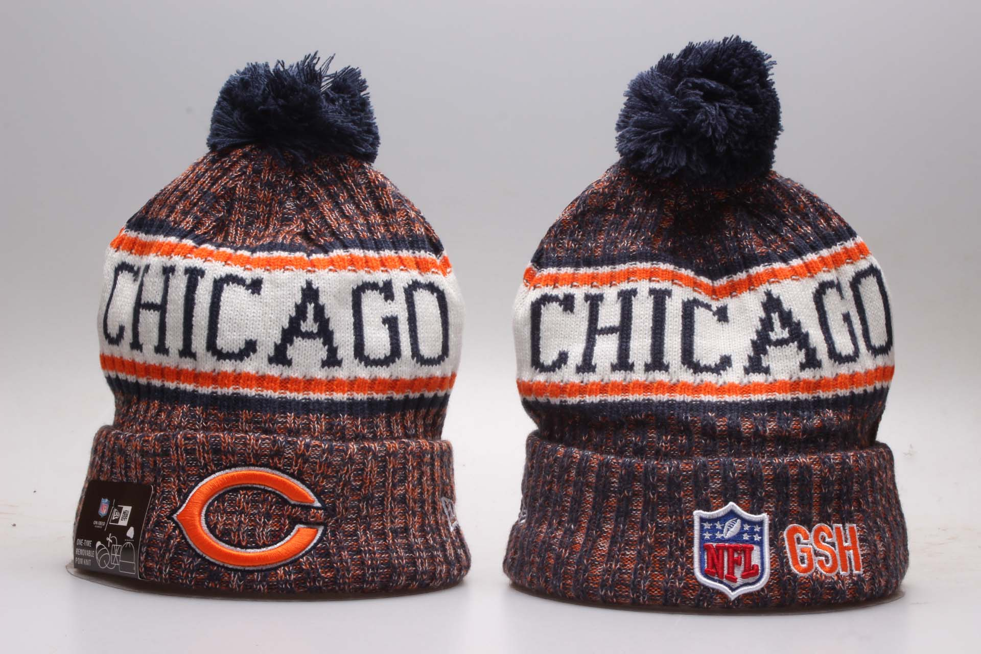 Bears Navy 2018 NFL Sideline Cold Weather Knit Hat YP
