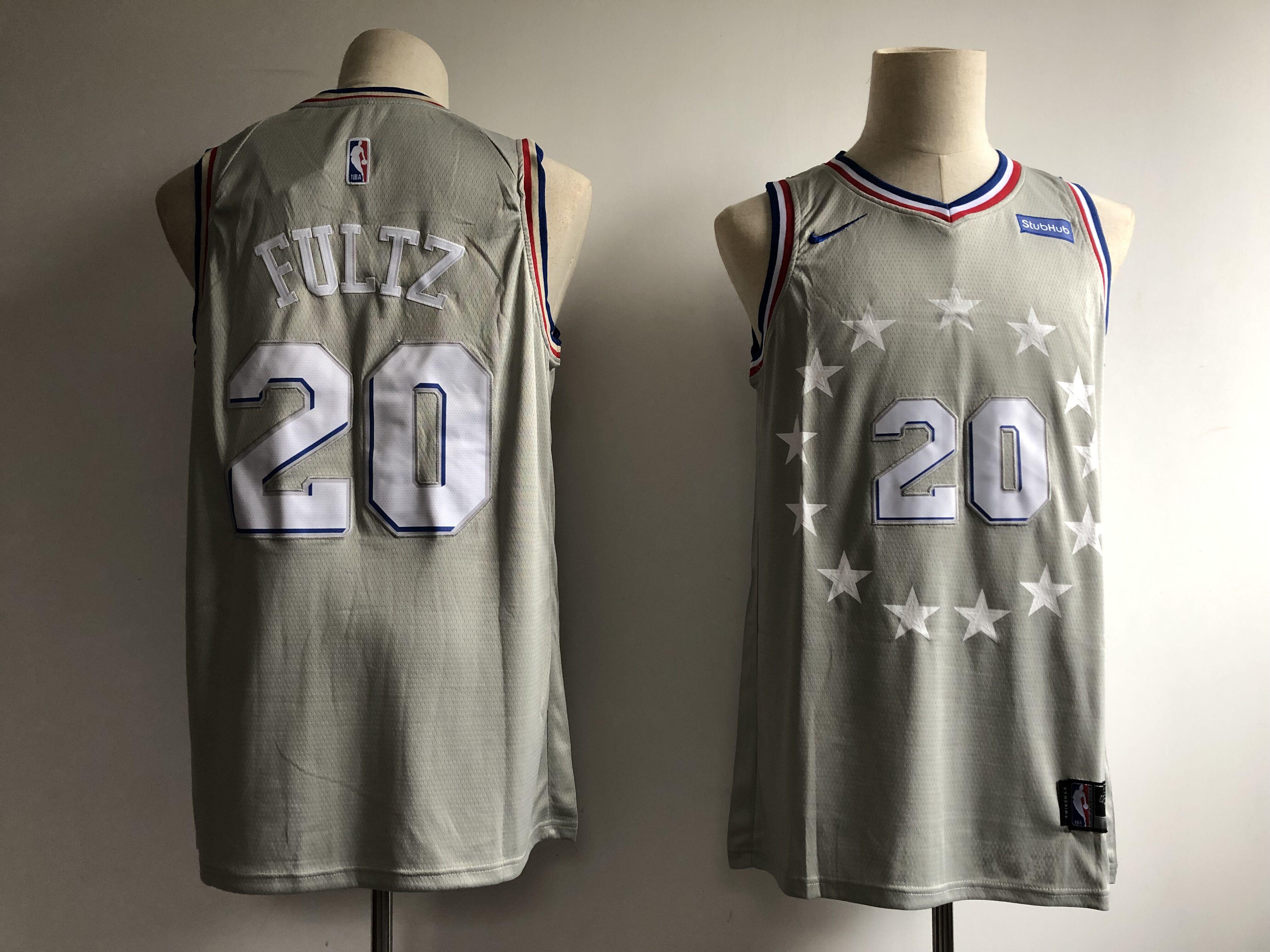 76ers 20 Markelle FultzGray 2018-19 City Edition Nike Swingman Jersey
