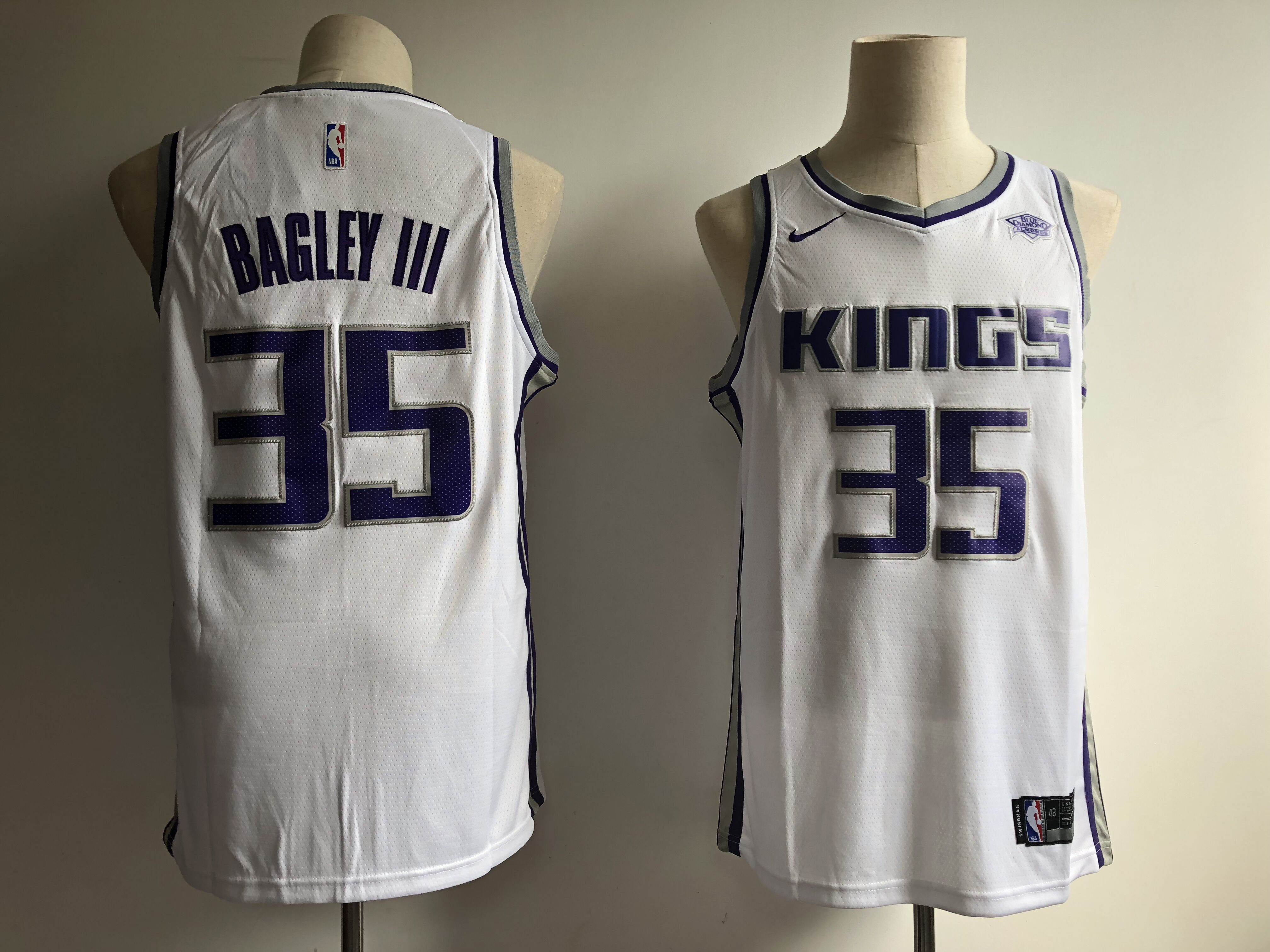 Kings 35 Marvin Bagley III White Nike Swingman Jersey