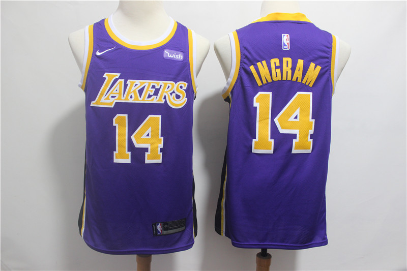 Lakers 14 Brandon Ingram Purple 2018-19 Nike Swingman Jersey