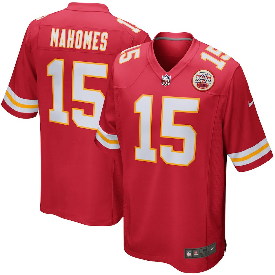 Nike Chiefs 15 Patrick Mahomes Red Elite Jersey