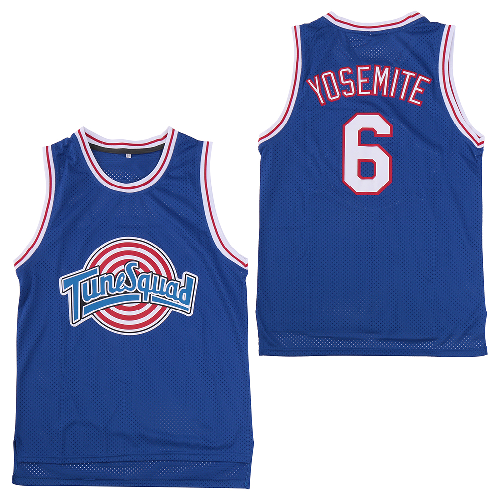 "Tune Squad 6 ""Yosemite"" Blue Stitched Movie Basketball Jersey"