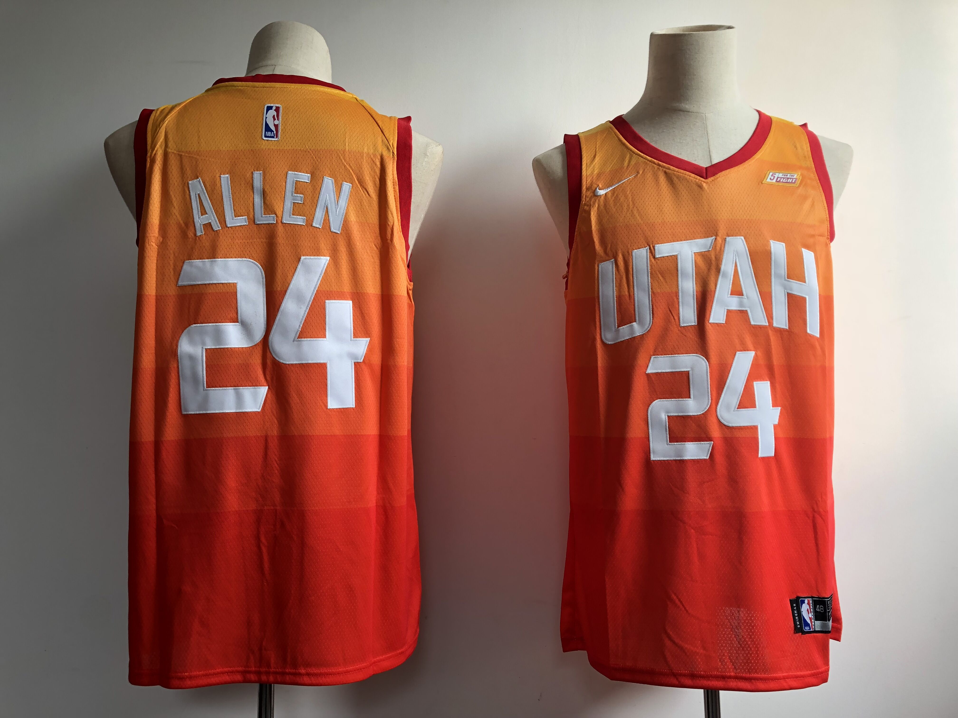 Jazz 24 Grayson Allen Orange 2018-19 City Edition Nike Swingman Jersey