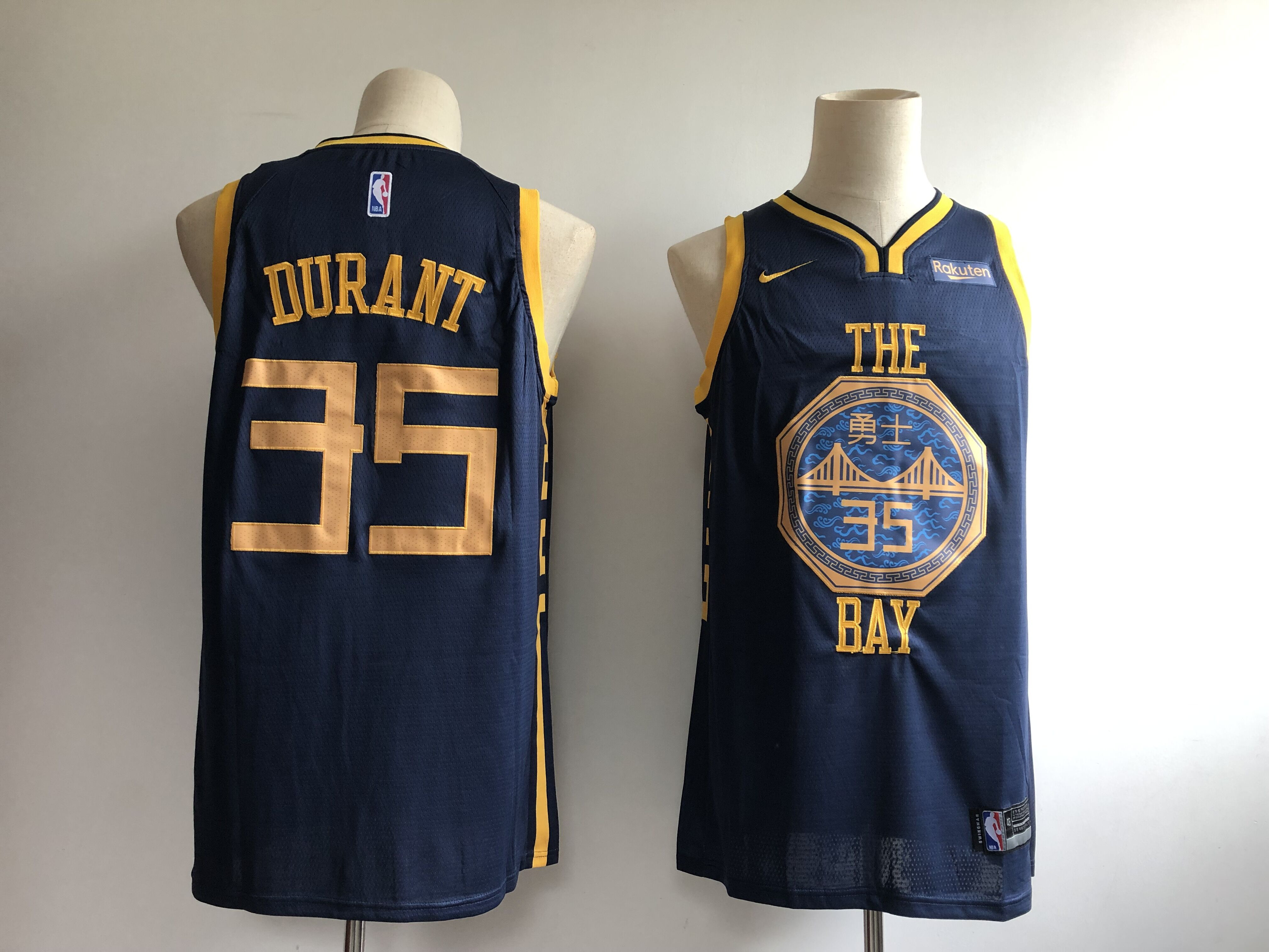 Warriors 35 Kevin Durant Navy 2018-19 City Edition Nike Swingman Jersey