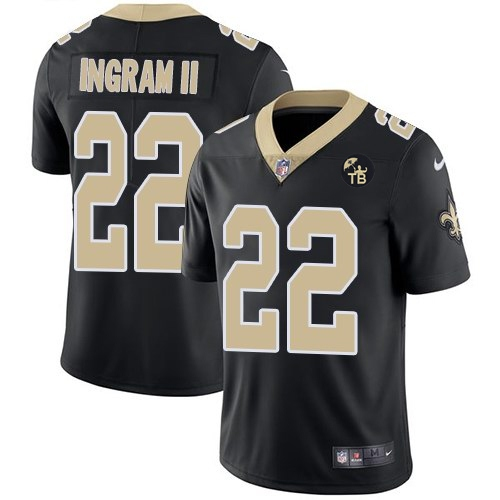 Nike Saints 22 Mark Ingram II Black With Tom Benson Patch Vapor Untouchable Limited Jersey