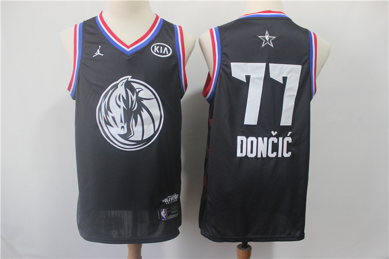 Mavericks 77 Luka Doncic Black 2019 NBA All-Star Game Jordan Brand Swingman Jersey