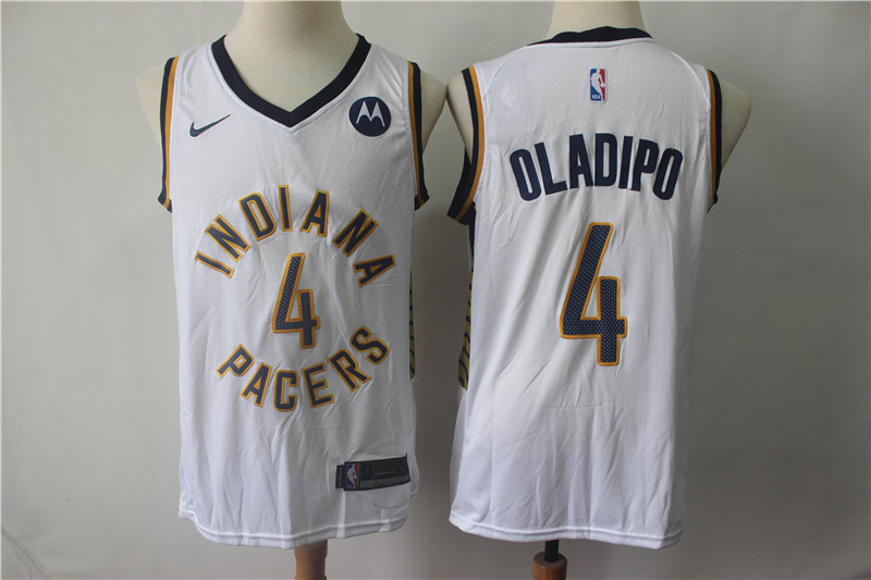6f3bb6428 Pacers 4 Victor Oladipo White Nike Swingman Jersey