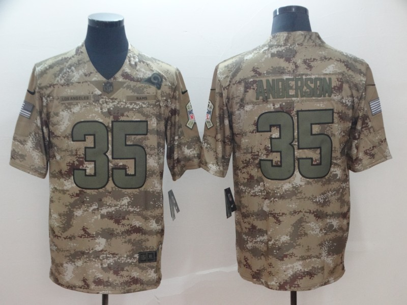 Nike Rams 35 C.J. Anderson Camo Salute To Service Limited Jersey