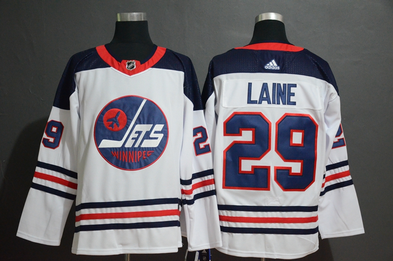 Winnipeg Jets 29 Patrik Laine White Breakaway Heritage Adidas Jersey