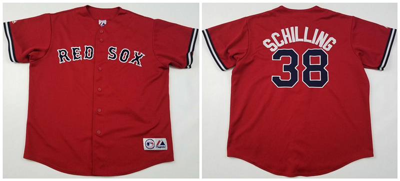 Red Sox 38 Curt Schilling Red Cool Base Jersey