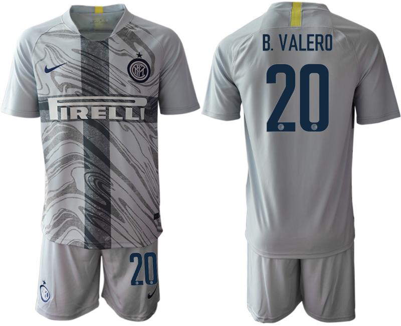 2018-19 Inter Milan 20 B. VALERO Third Away Soccer Jersey