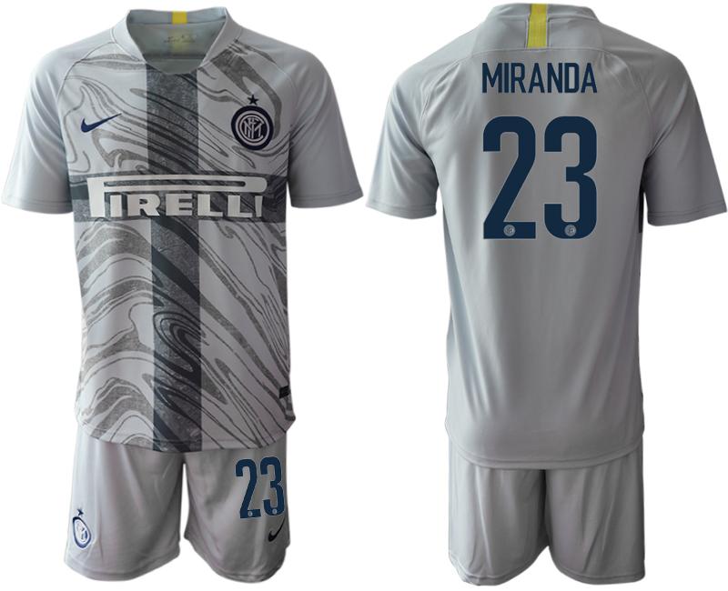 2018-19 Inter Milan 23 MIRANDA Third Away Soccer Jersey