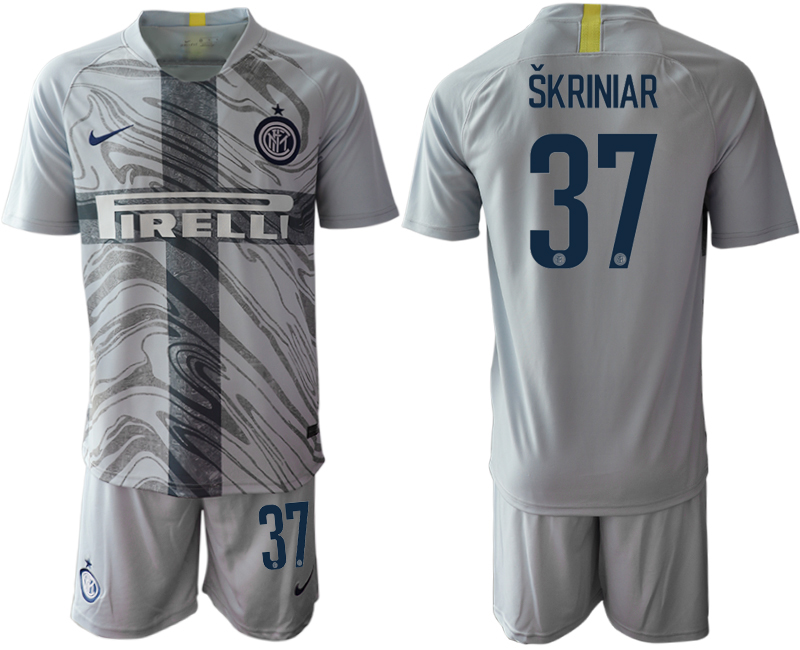 2018-19 Inter Milan 37 SKRINIAR Third Away Soccer Jersey