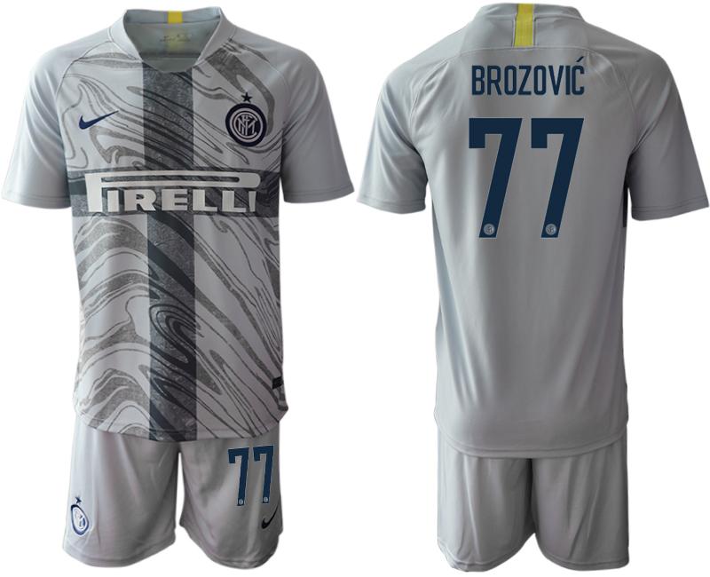 2018-19 Inter Milan 77 BROZOVIC Third Away Soccer Jersey