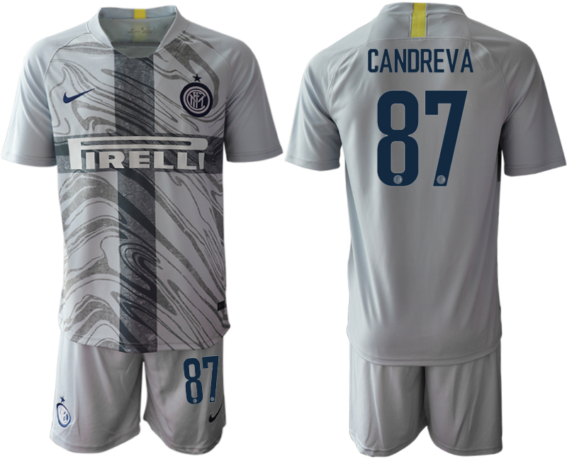 2018-19 Inter Milan 87 CANDREVA Third Away Soccer Jersey