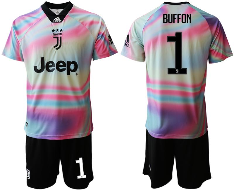 2018-19 Juventus 1 BUFFON Maglia EA SPORTS Soccer Jersey