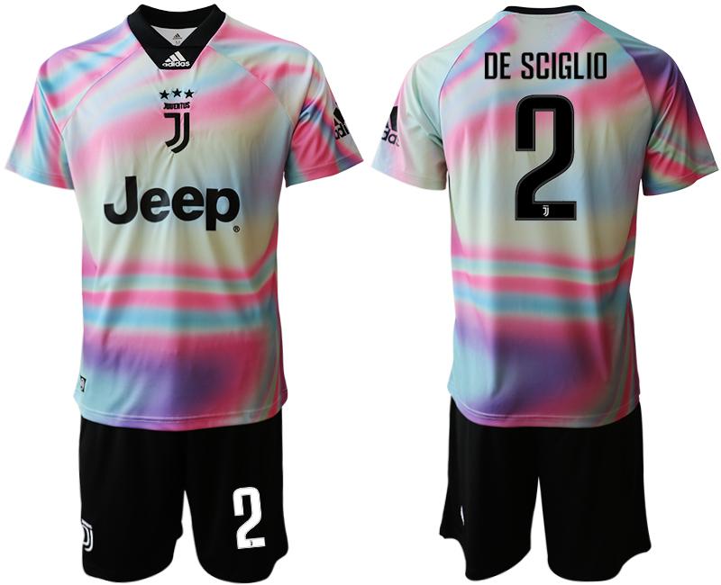 2018-19 Juventus 2 DE SCIGLIO Maglia EA SPORTS Soccer Jersey