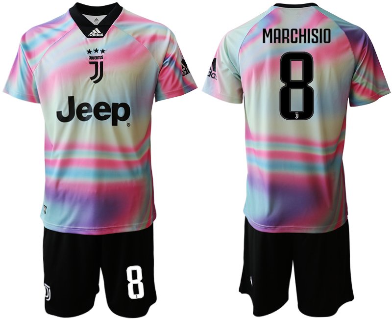 2018-19 Juventus 8 MARCHISIO Maglia EA SPORTS Soccer Jersey
