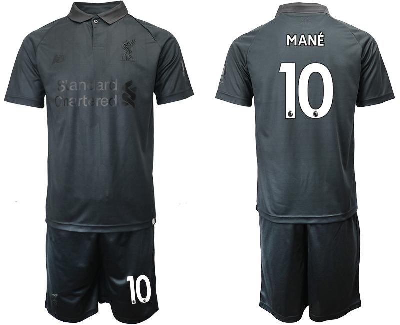 2018-19 Liverpool 10 MANE Black Goalkeeper Soccer Jersey