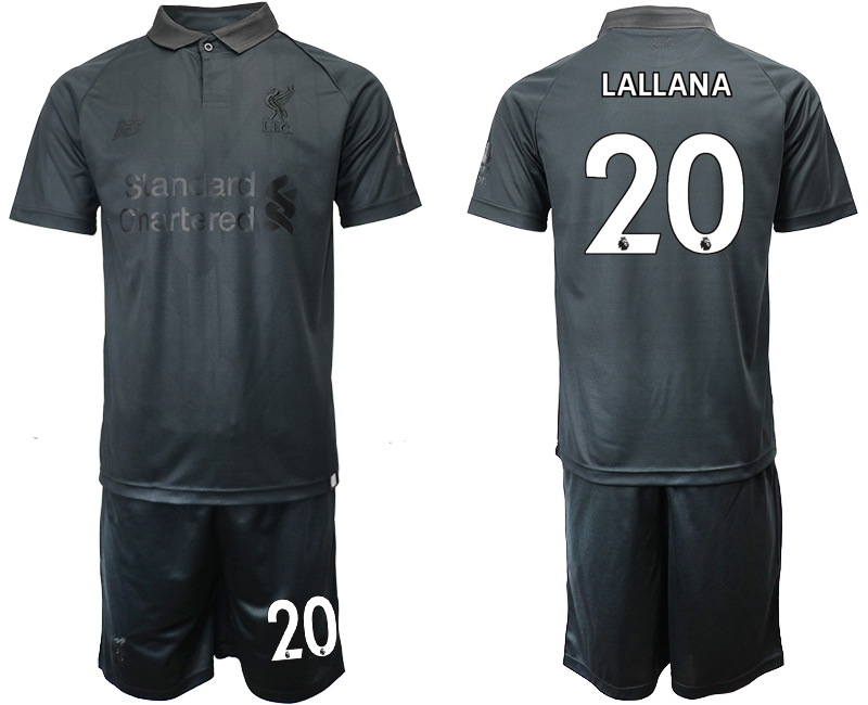 2018-19 Liverpool 20 LALLANA Black Goalkeeper Soccer Jersey