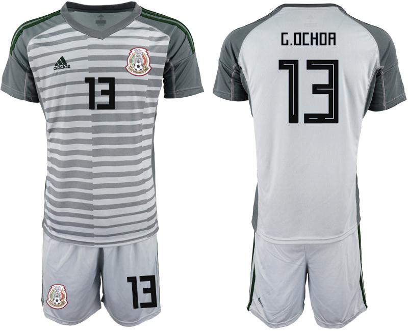 Mexico 13 G.OCHOA Gray Goalkeeper Soccer Jersey
