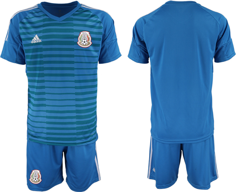 Mexico Blue 2018 FIFA World Cup Goalkeeper Soccer Jersey