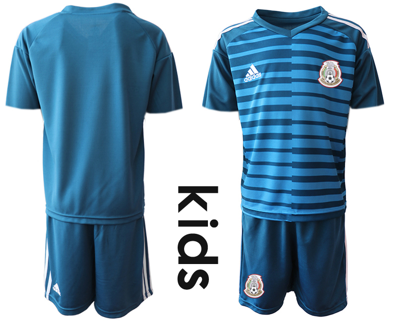 0bf3edbb2 Mexico Blue Youth 2018 FIFA World Cup Goalkeeper Soccer Jersey