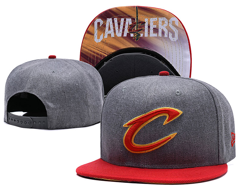 Cleveland Cavaliers Gray Adjustable Hat LH