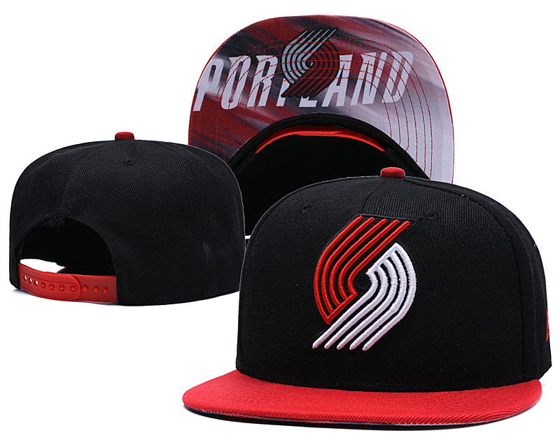 Portland Trail Blazers Black Adjustable Hat LH