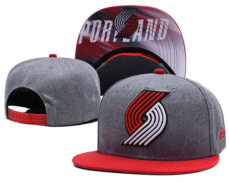 Portland Trail Blazers Gray Adjustable Hat LH