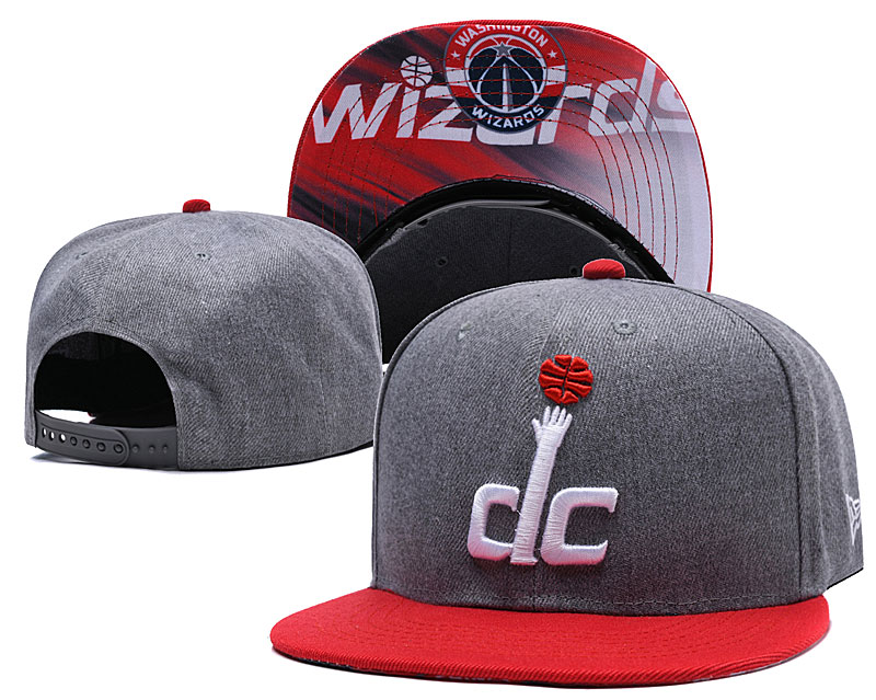 Washington Wizards Gray Adjustable Hat LH