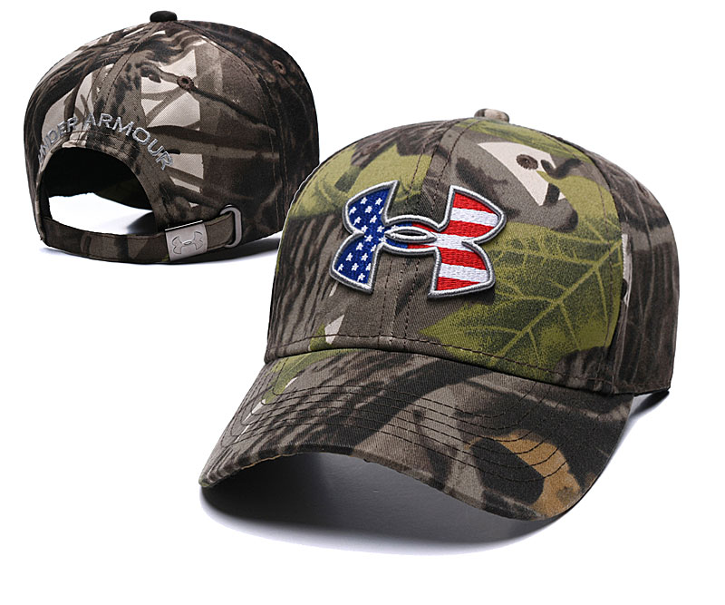 Under Armour USA Flag Camo Peaked Adjustable Hat TX