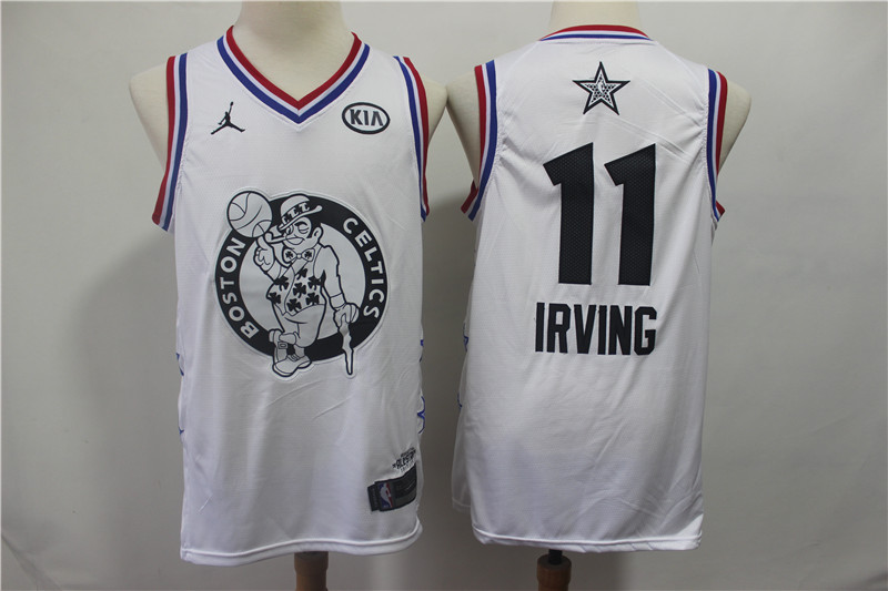 Celtics 11 Kyrie Irving White 2019 NBA All-Star Game Jordan Brand Swingman Jersey