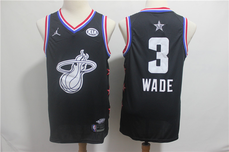Heat 3 Dwyane Wade Black 2019 NBA All-Star Game Jordan Brand Swingman Jersey