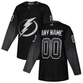 Lightning Black Alternate Men's Customized Adidas Jersey