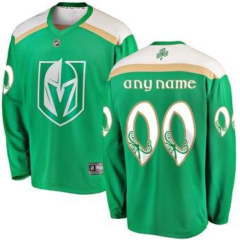 Vegas Golden Knights Green Men's Customized 2019 St. Patrick's Day Adidas Jersey