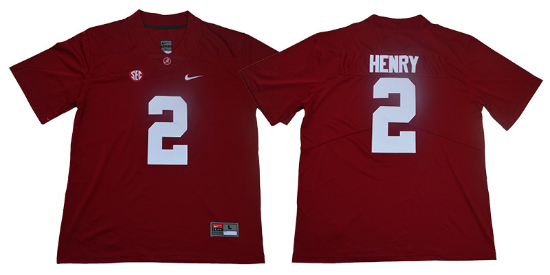 Alabama Crimson Tide 2 Derrick Henry Red Nike College Football Jersey
